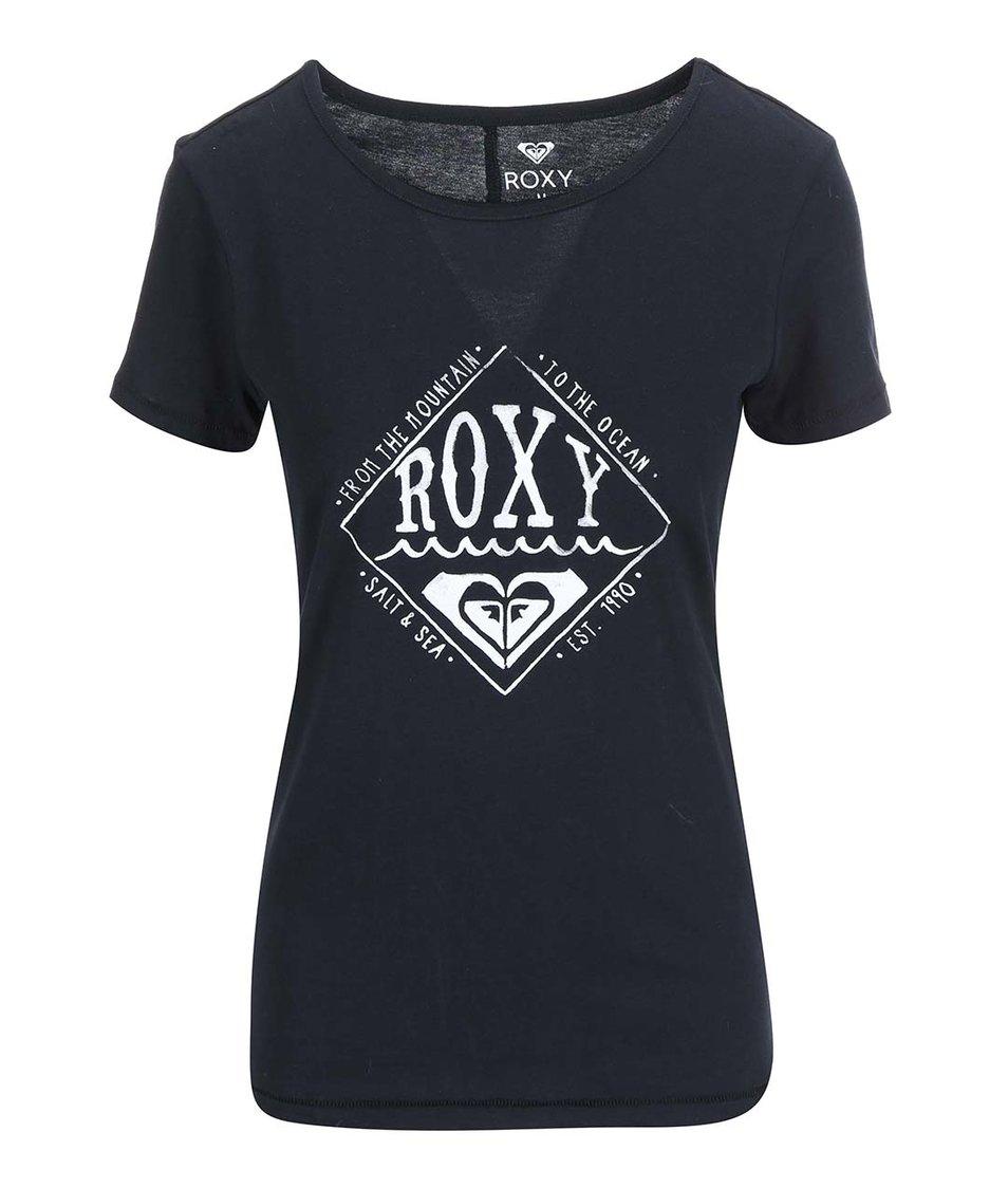 Černé tričko s potiskem Roxy Basic