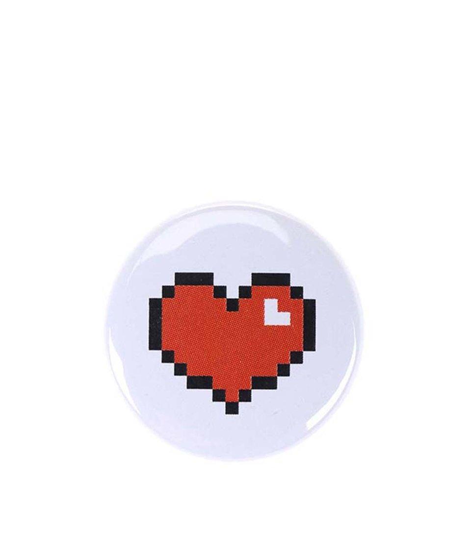 Malá bílá placka ZOOT Originál Srdce