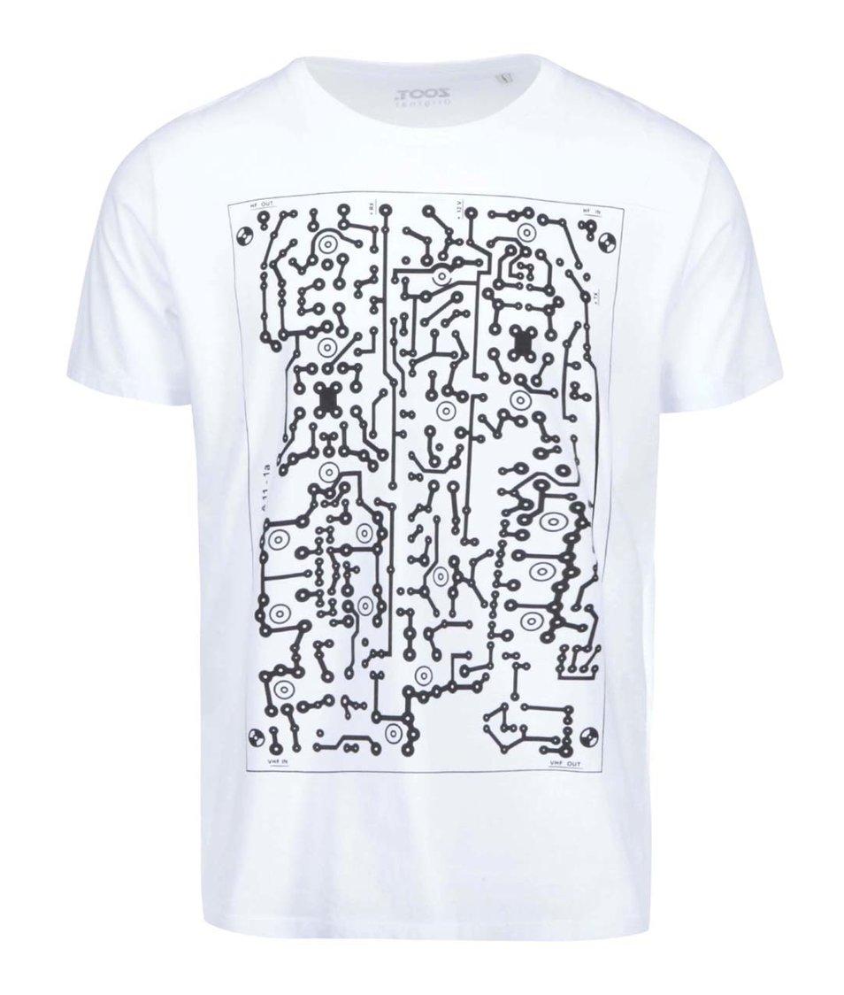 Bílé pánské triko ZOOT Originál Tištěné spoje