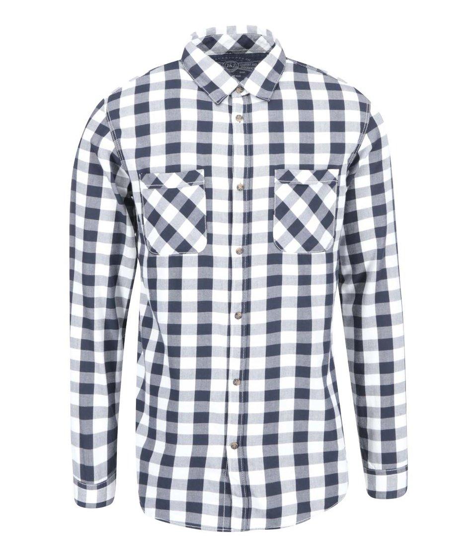 Tmavě modrá kostkovaná košile Jack & Jones Colt