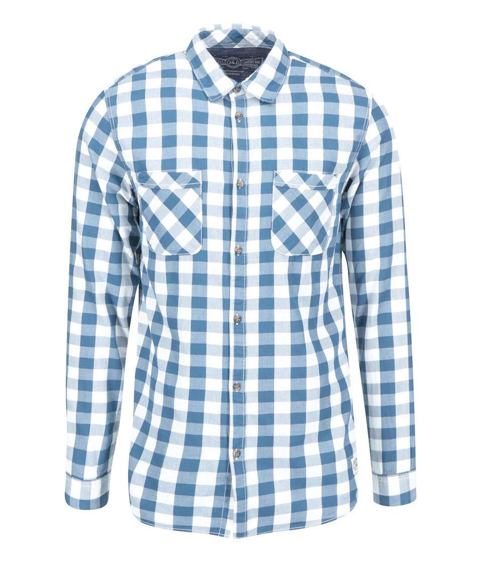 Modrá kostkovaná košile Jack & Jones Colt