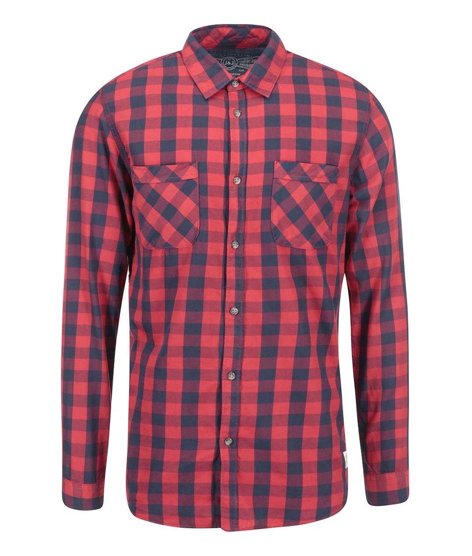 Červená kostkovaná košile Jack & Jones Colt
