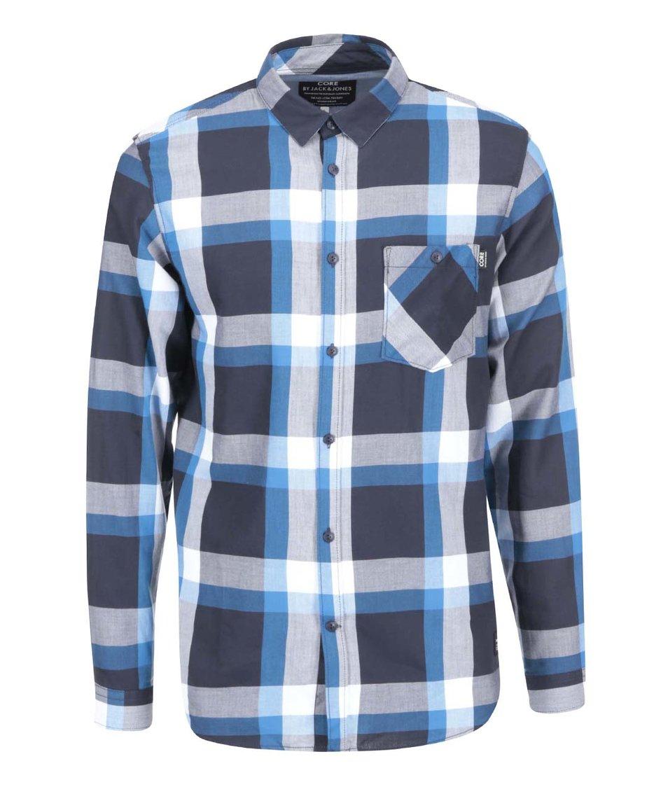 Modrá károvaná košile Jack & Jones Ewan