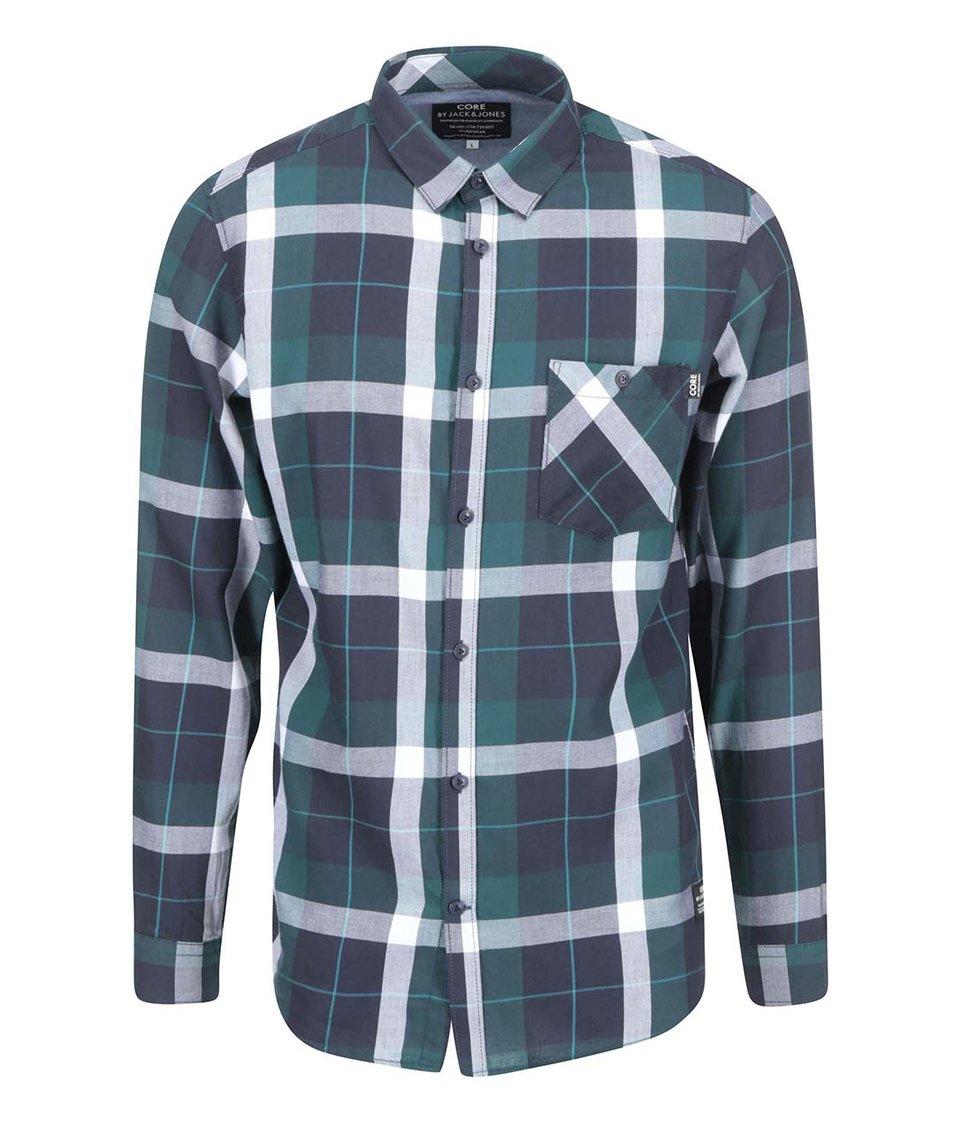 Zelená károvaná košile Jack & Jones Ewan