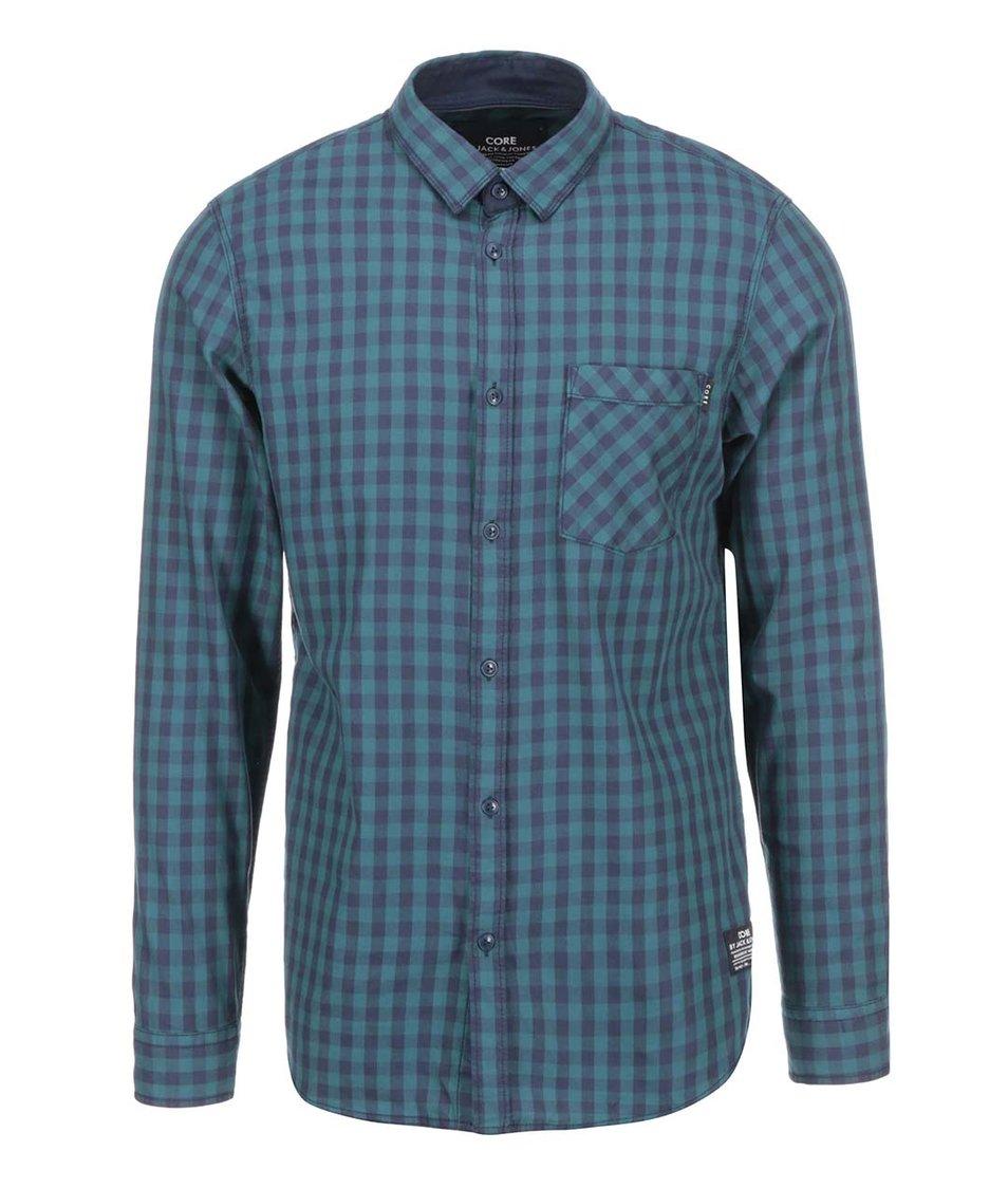 Zelená kostkovaná košile Jack & Jones Leonard