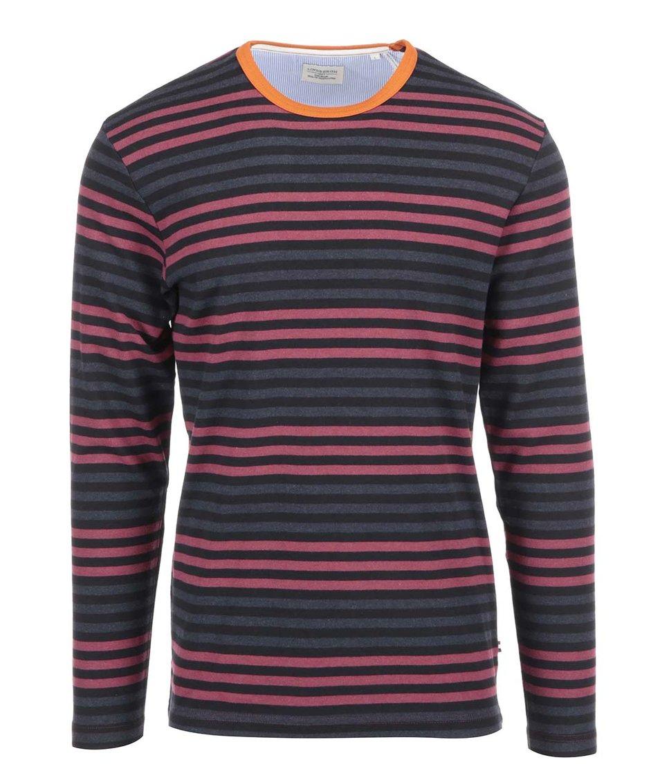 Červen-modro-černé pruhované triko Lindbergh