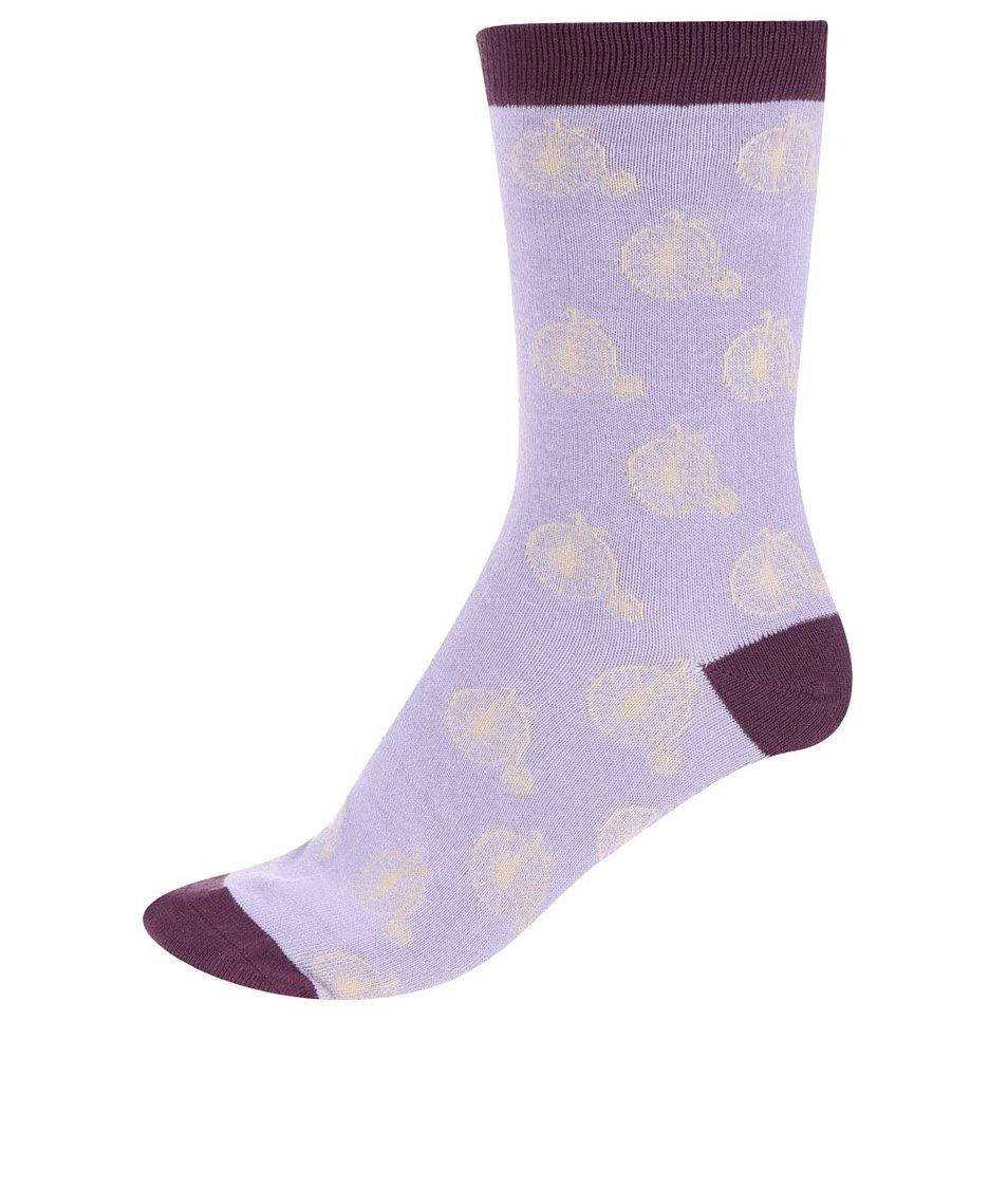 Fialové dámské bambusové ponožky Braintree Penny Farthing