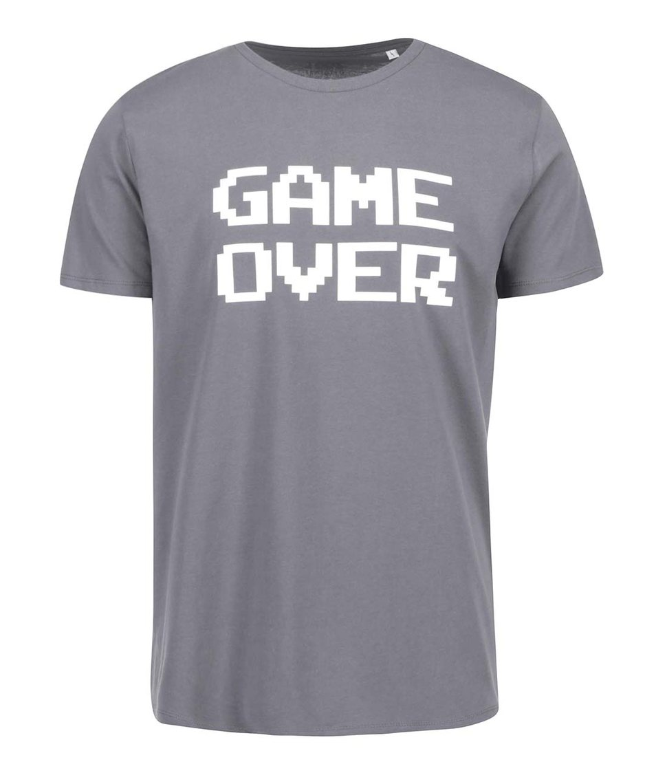 Šedé pánské triko ZOOT Originál Game over