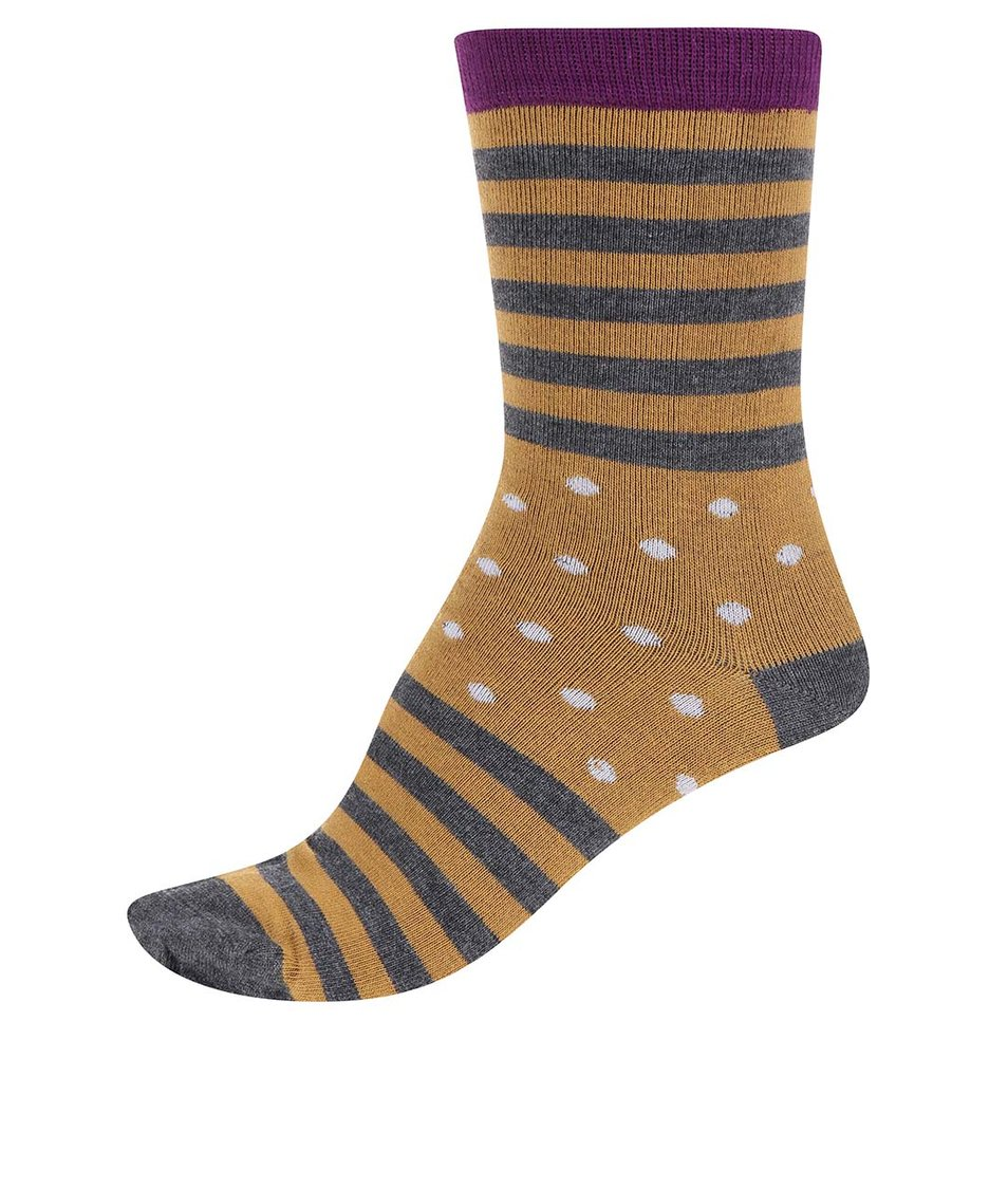 Šedo-hořčicové dámské bambusové ponožky Braintree Wanda Clye