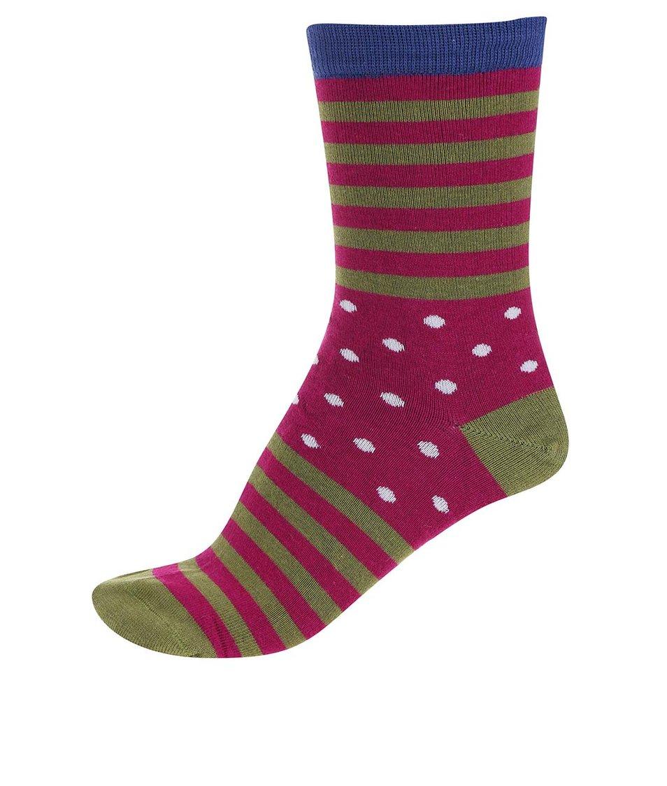 Zeleno-fuchsiové dámské bambusové ponožky Braintree Wanda Clye