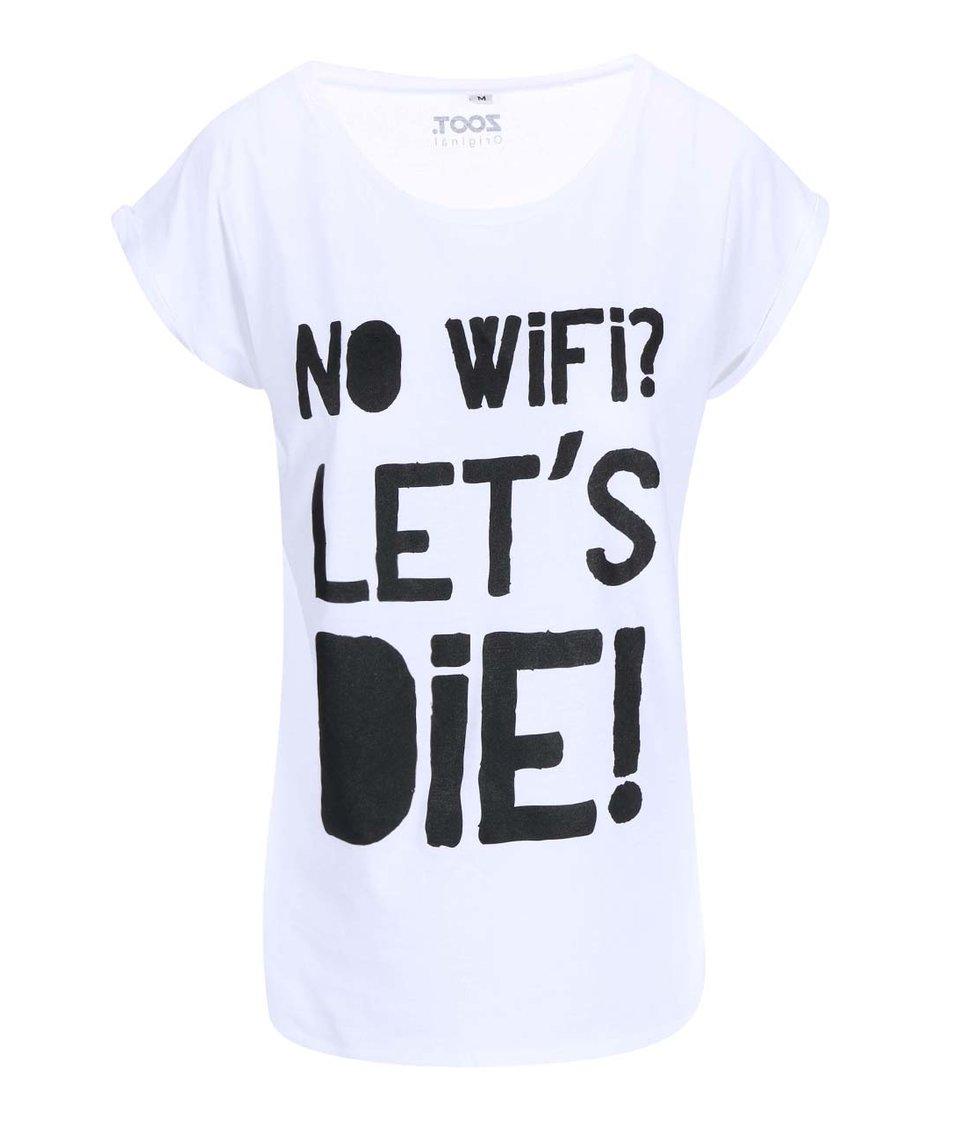 Bílé dámské tričko ZOOT Originál No Wifi