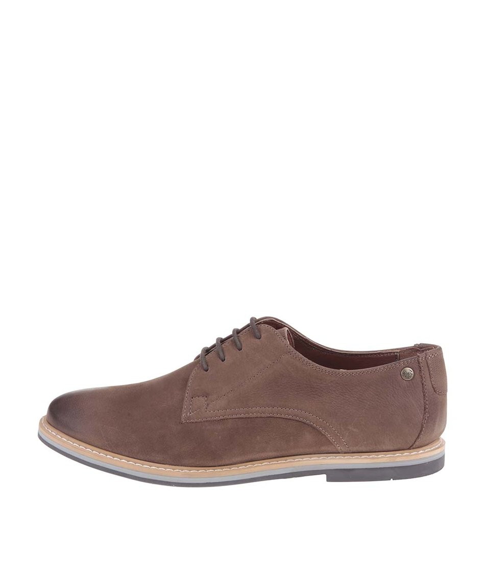 Světle hnědé kožené boty Frank Wright Woking