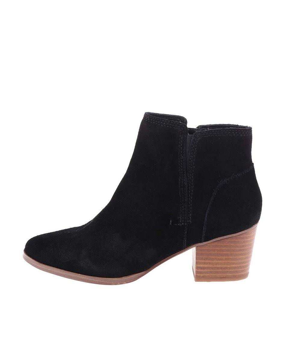 Černé kožené boty ALDO Lillianne