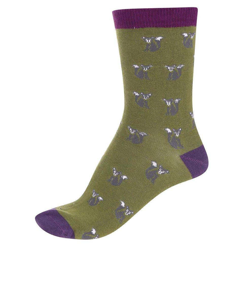 Zelené dámské bambusové ponožky Braintree Foxy