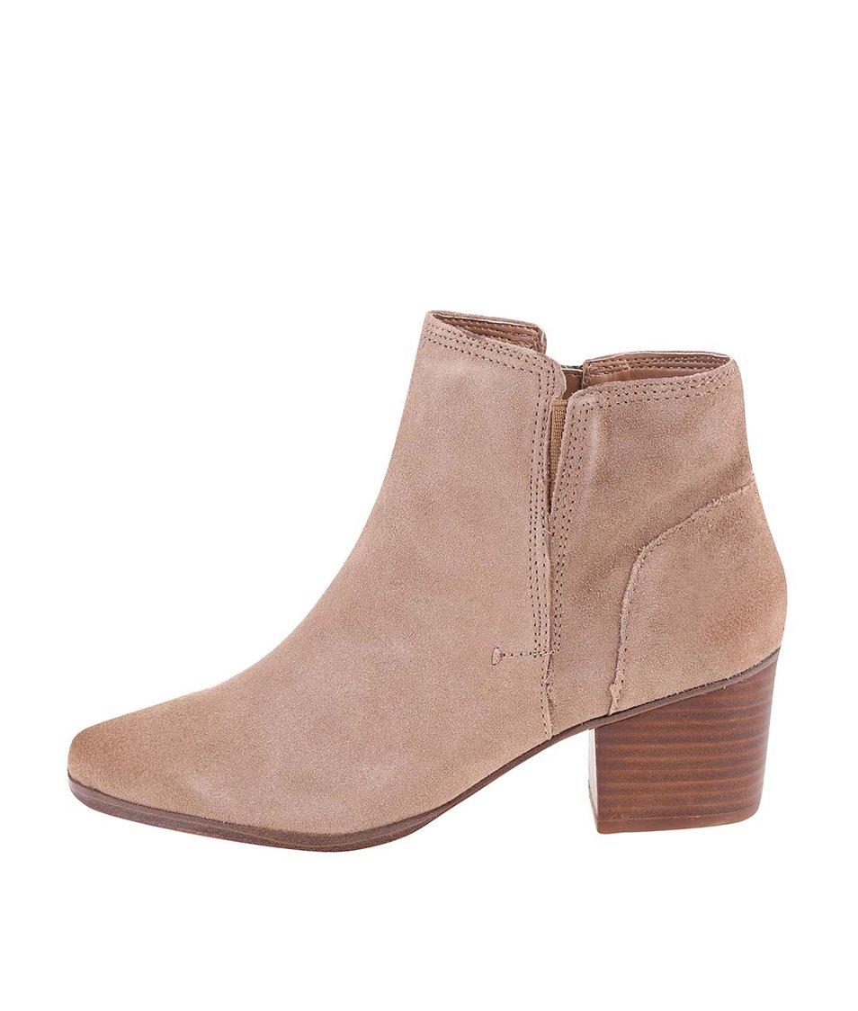 Béžové kožené boty ALDO Lillianne