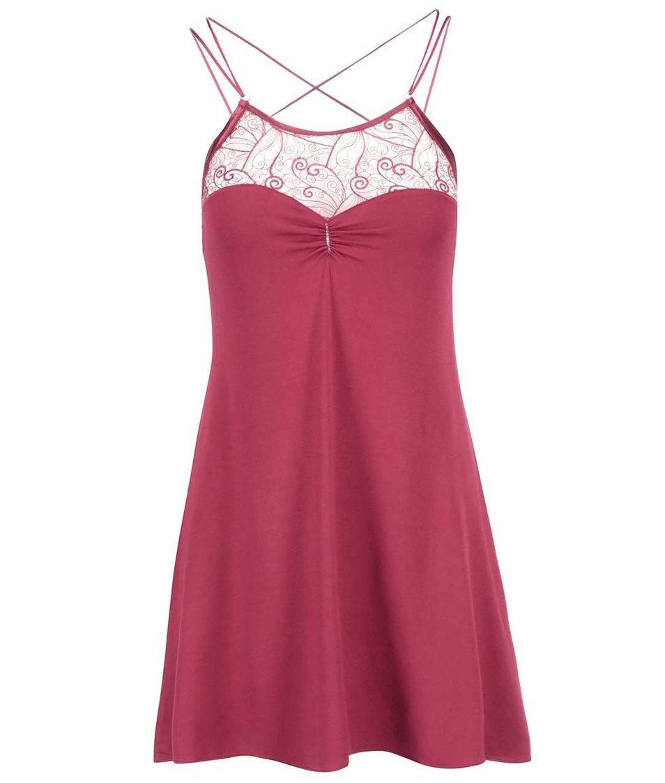Červená noční košilka s krajkou Lisca Lyra