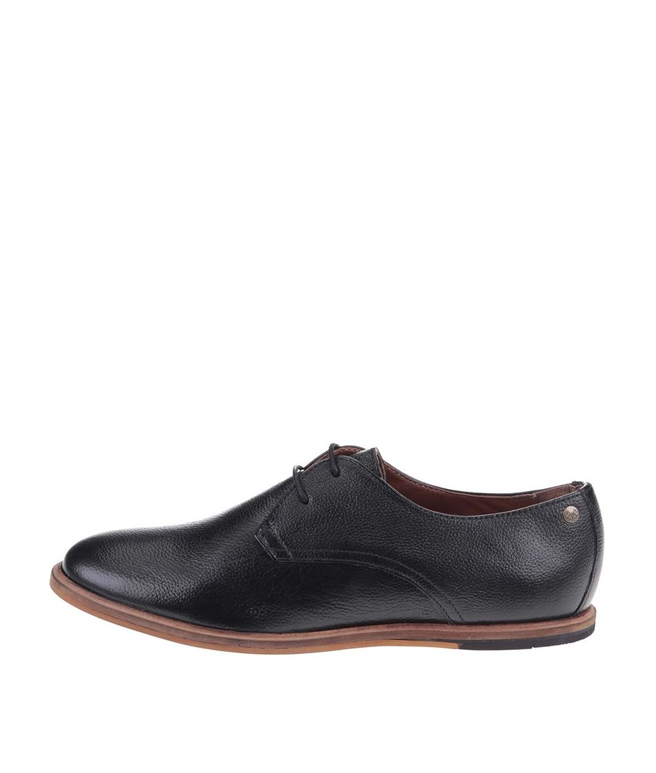 Černé kožené boty Frank Wright Busby