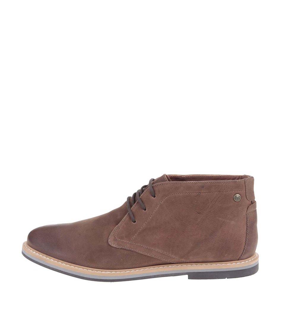 Světle hnědé kožené kotníkové boty Frank Wright Barnet
