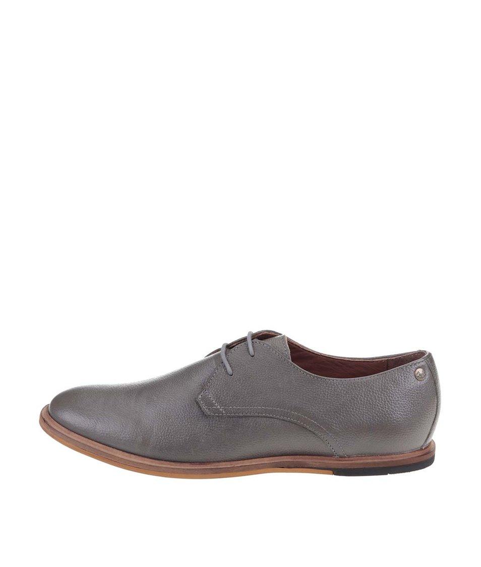 Šedé kožené boty Frank Wright Busby