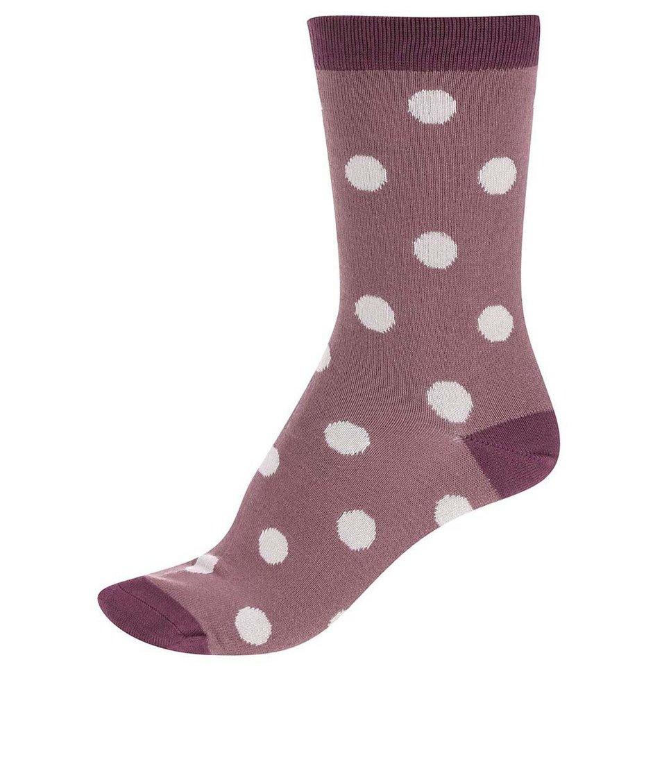 Hnědo-růžové dámské bambusové ponožky Braintree Kolet Spot