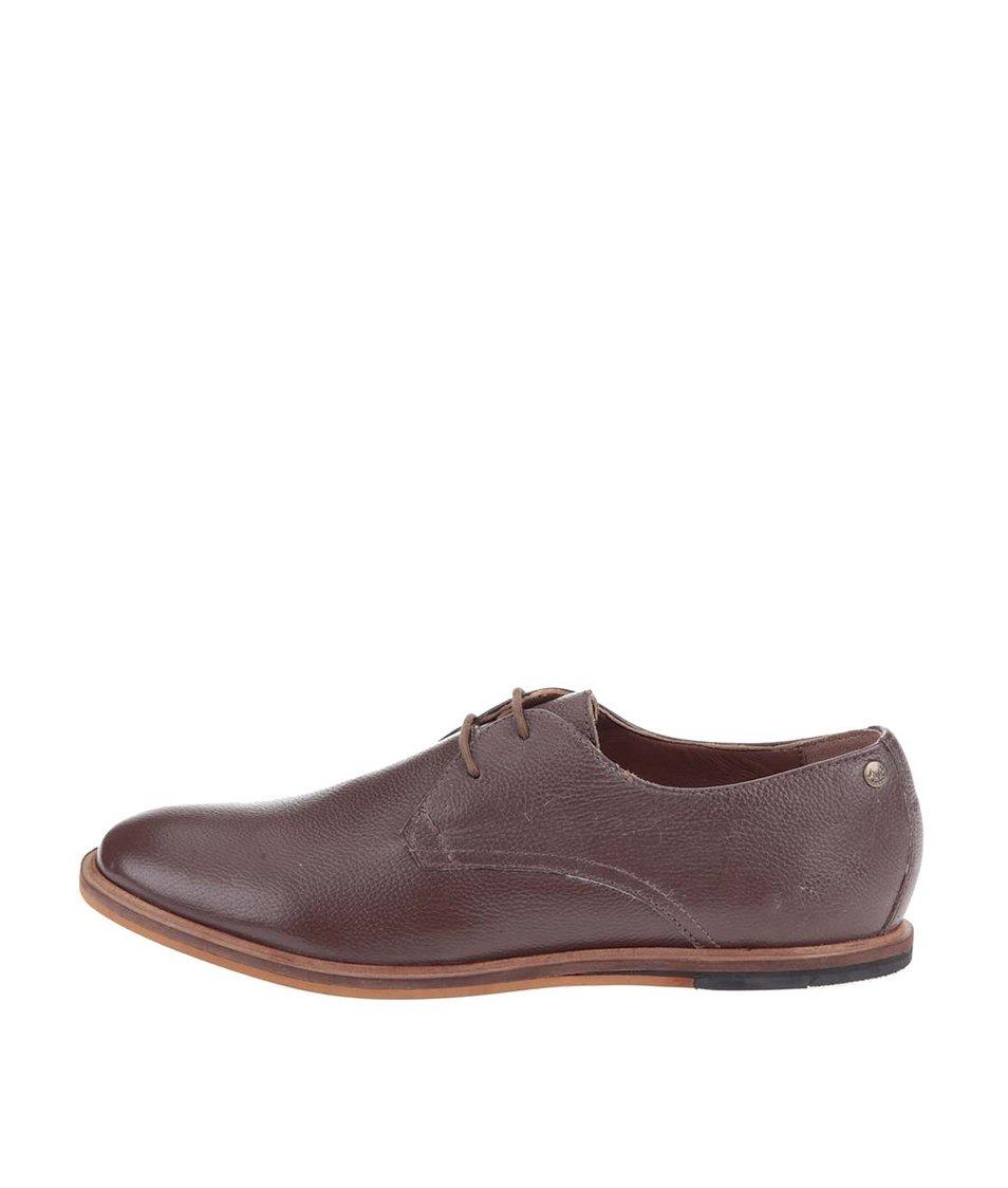 Hnědé kožené boty Frank Wright Busby