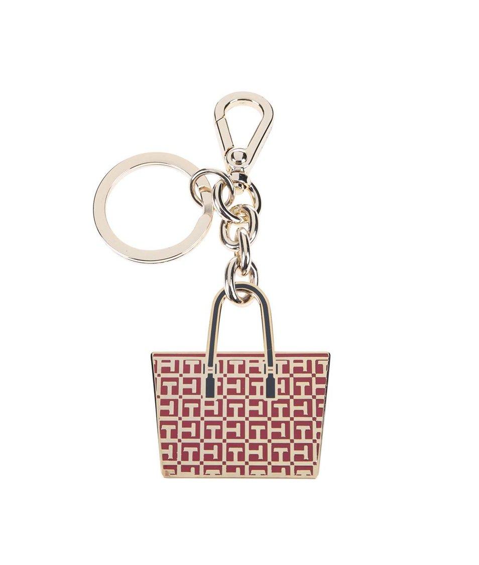 Červená dámská klíčenka ve tvaru shopperu Tommy Hilfiger Irene