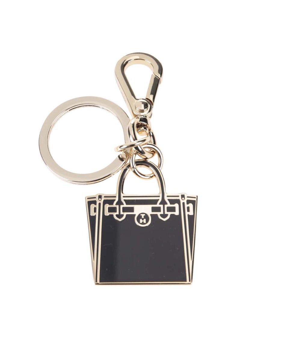 Černá dámská klíčenka Tommy Hilfiger American Icon