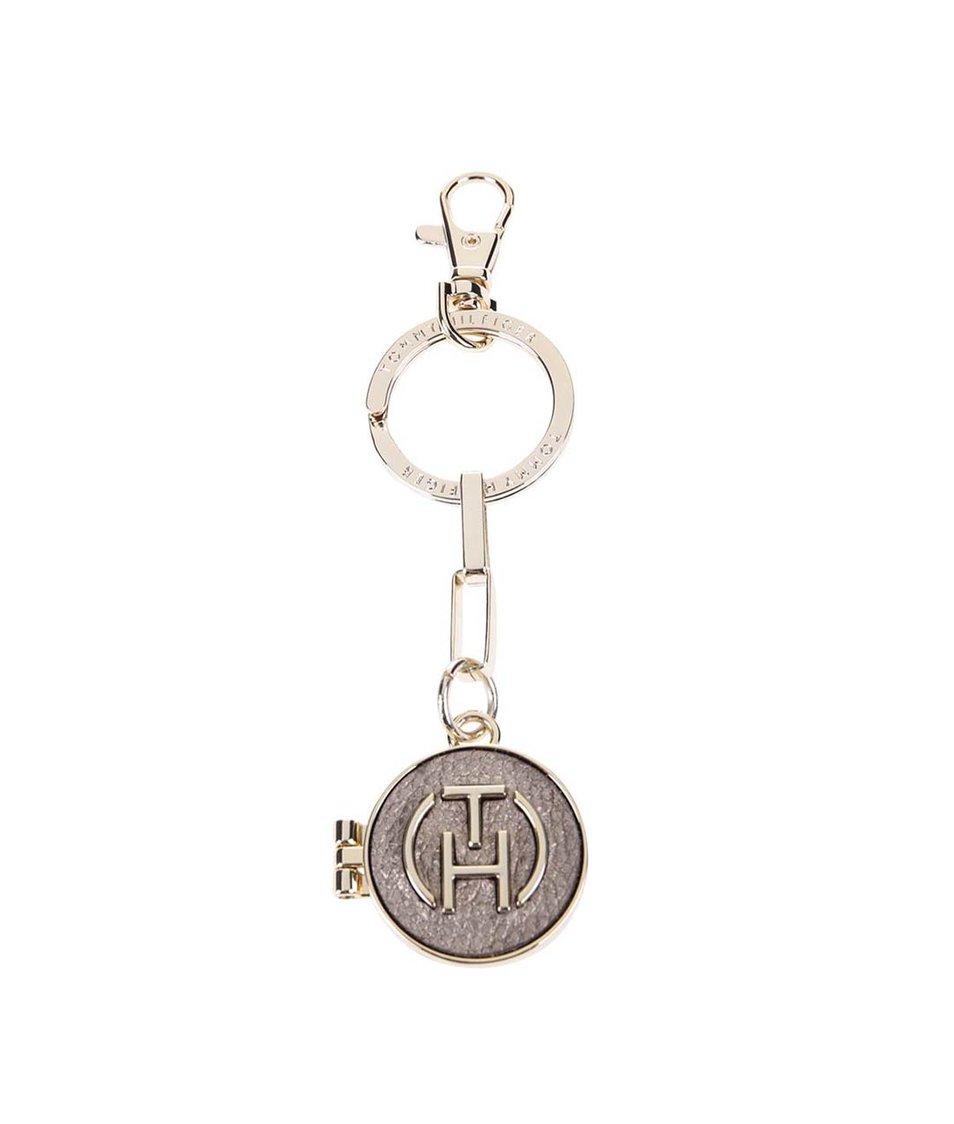 Dámské zrcátko na klíče v bronzové barvě Tommy Hilfiger Rosanna