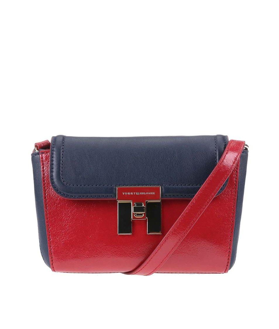 Modro-červená menší kabelka přes rameno Tommy Hilfiger Lock