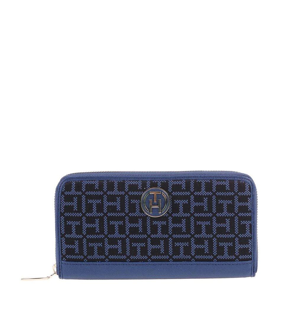 Modrá dámská vzorovaná peněženka Tommy Hilfiger Louise