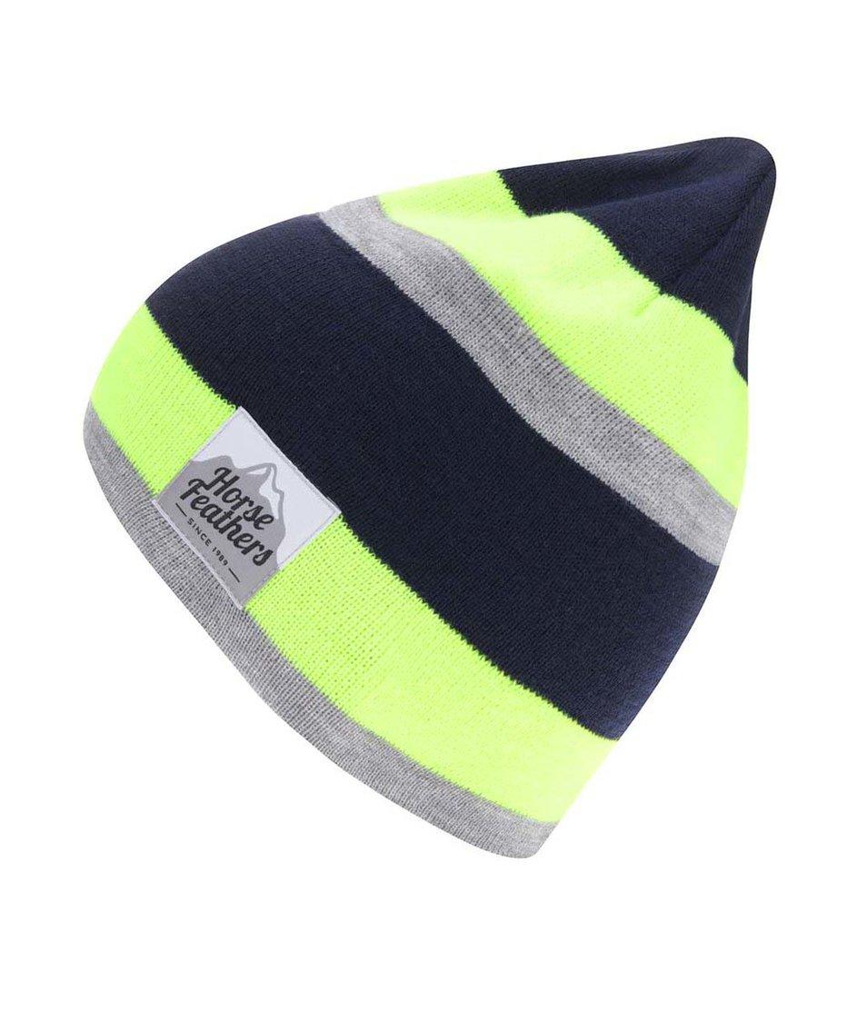 Žluto-modrá pánská čepice s šedým pruhem Horsefeathers Andy