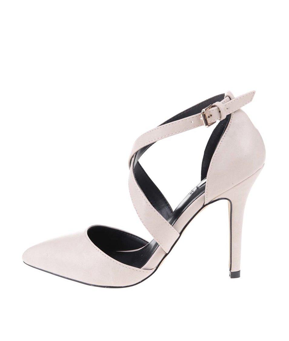 Krémové sandálky na podpatku ALDO Aresa