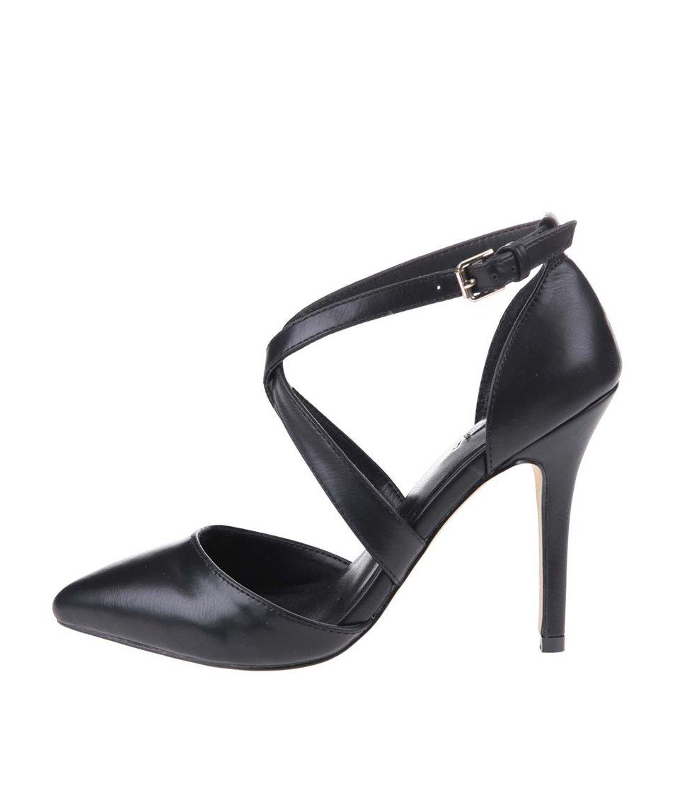 Černé sandálky na podpatku ALDO Aresa