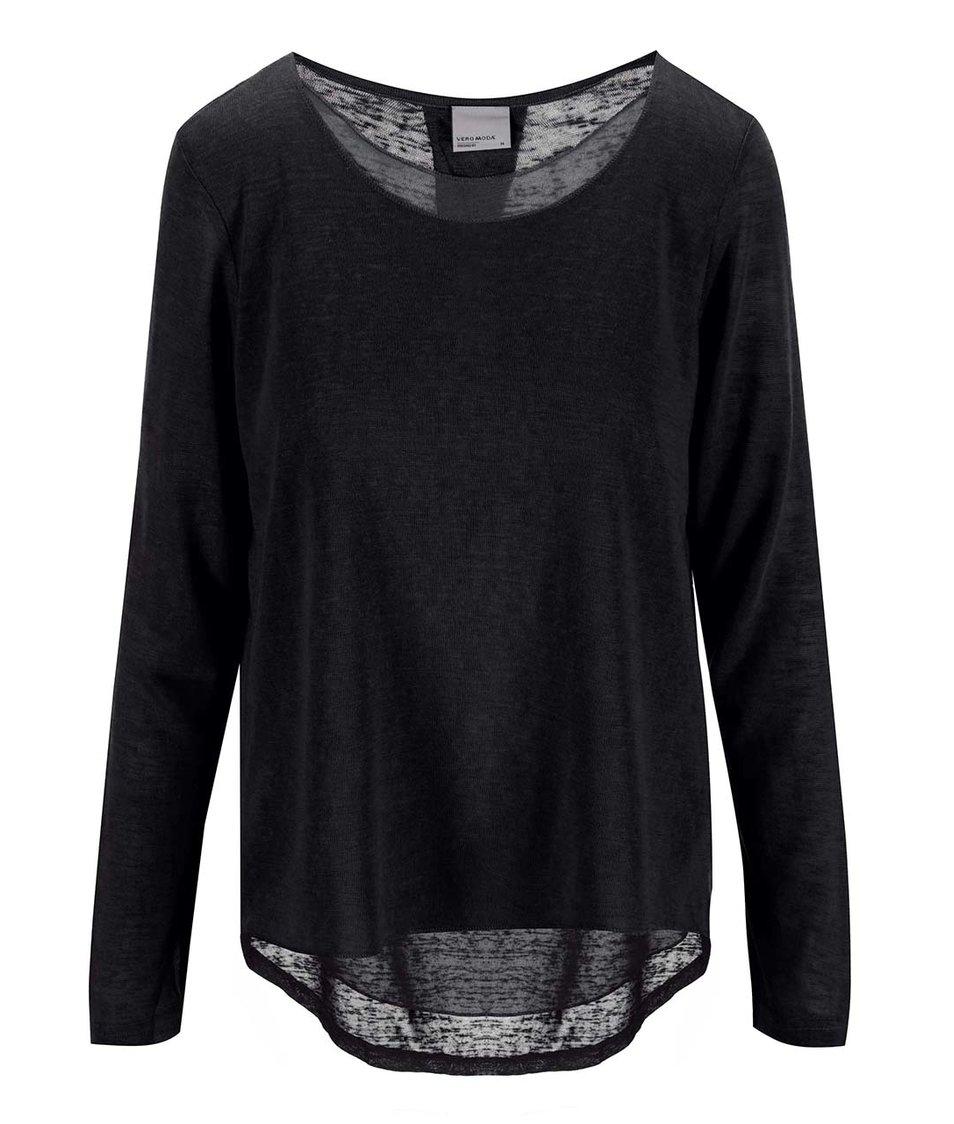 Černý tenký svetr Vero Moda Emily