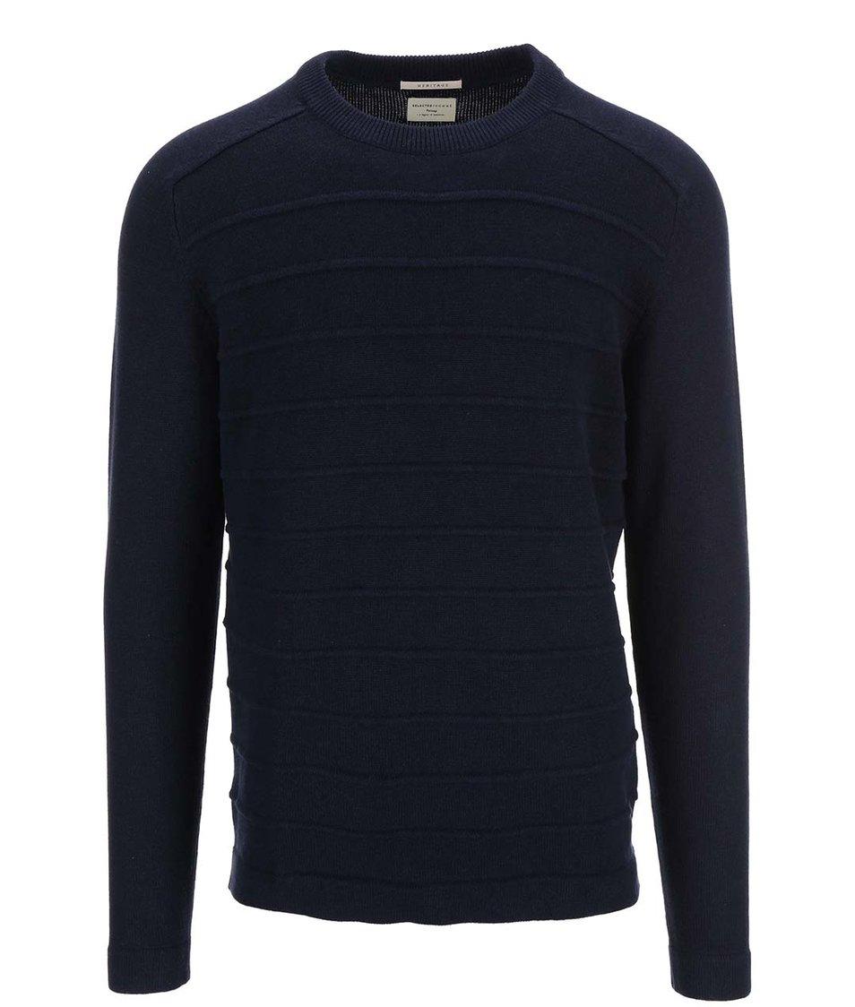 Tmavě modrý svetr Selected Martin
