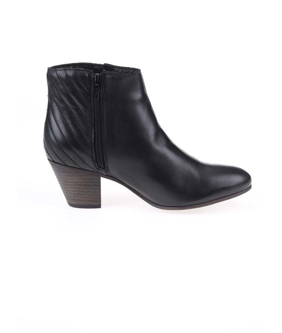 Černé kožené kotníkové boty ALDO Cadosein Černé kožené kotníkové boty ALDO  Cadosein ... 2aeb864033