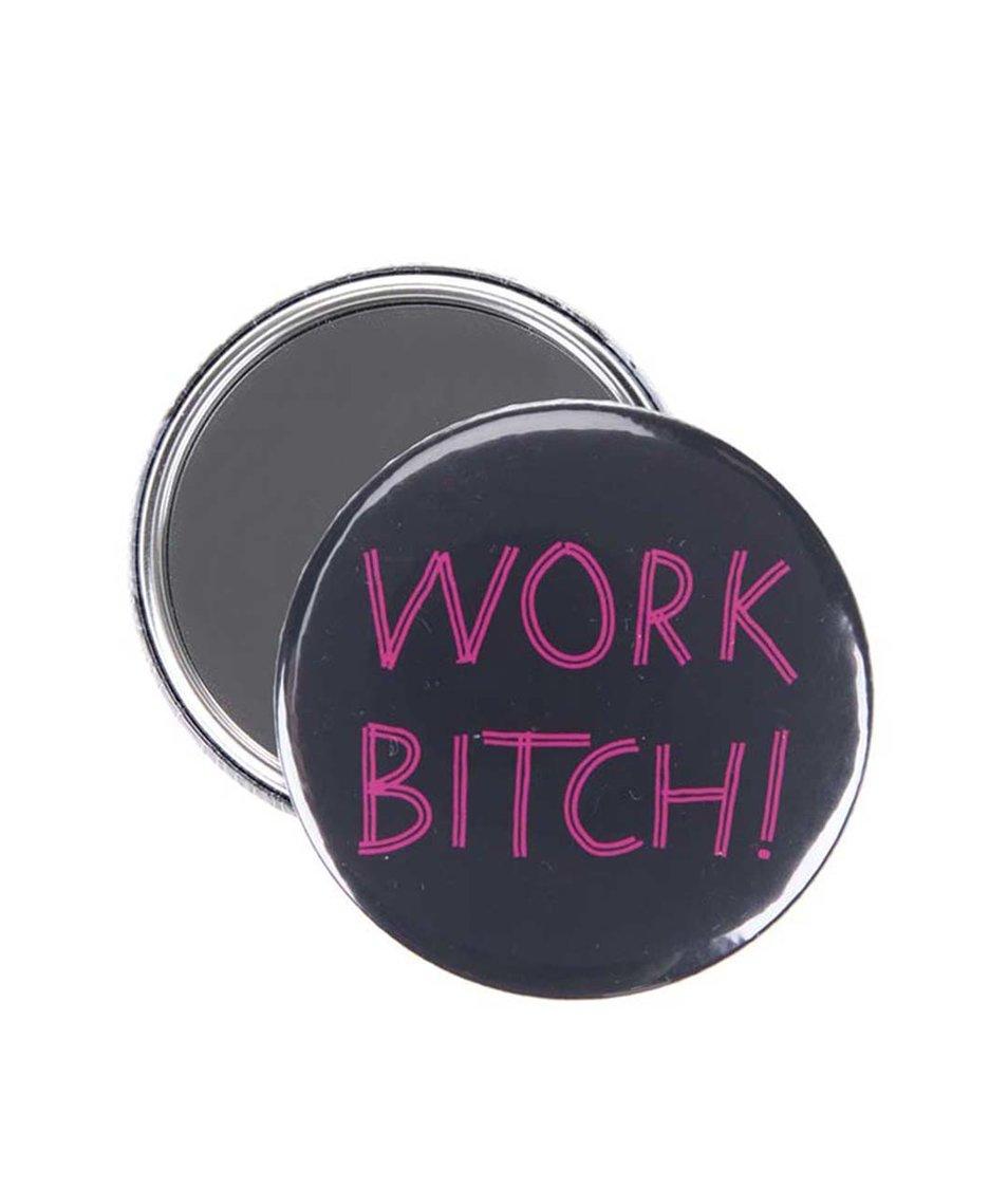 Černé kapesní zrcátko ZOOT Originál Work Bitch