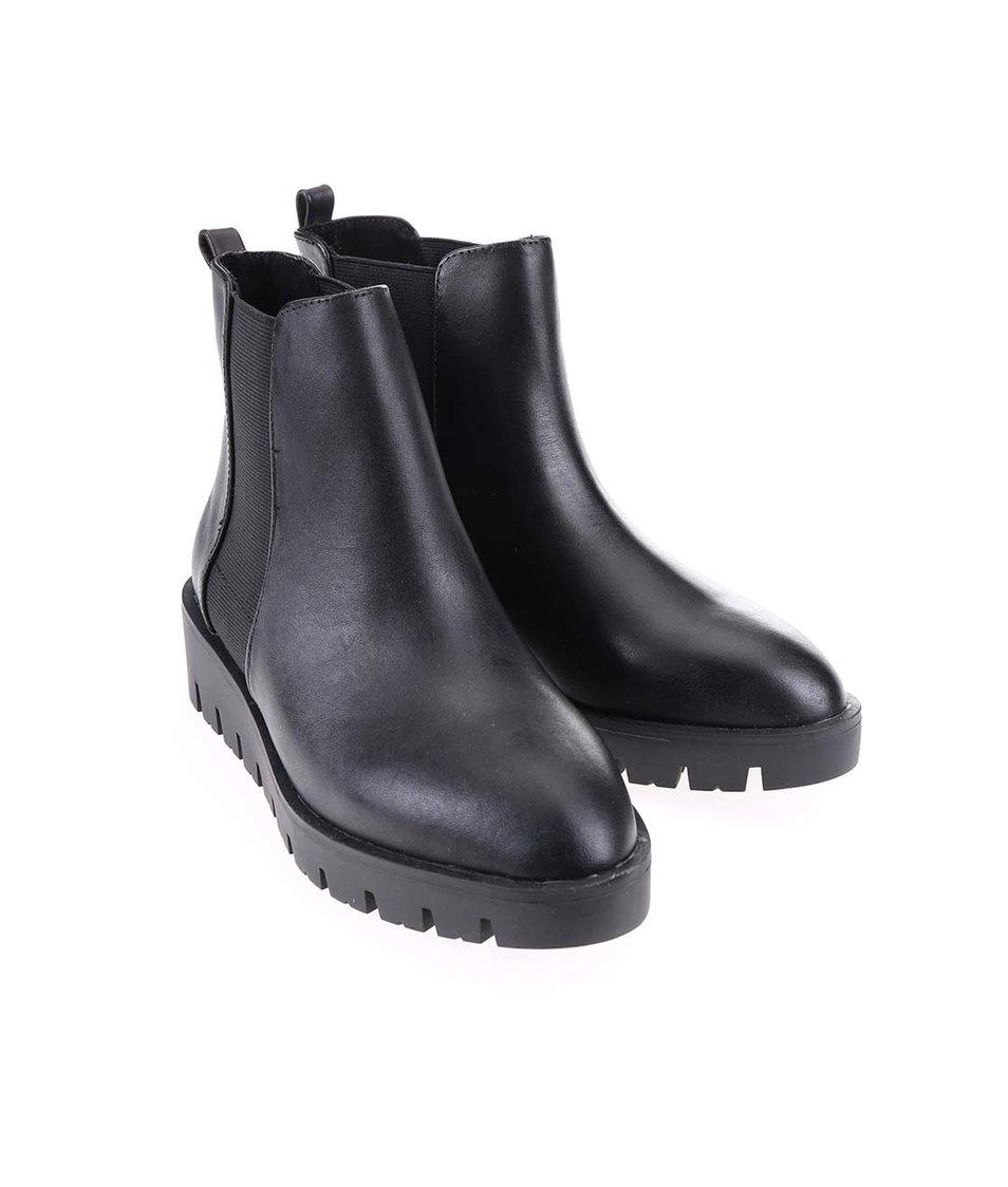 Černé dámské kožené kotníkové boty ALDO Evora - Vánoční HIT!  03b13af524