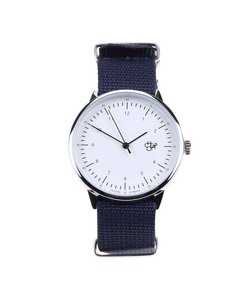 Tmavě modré unisex hodinky Cheapo Harold Navy