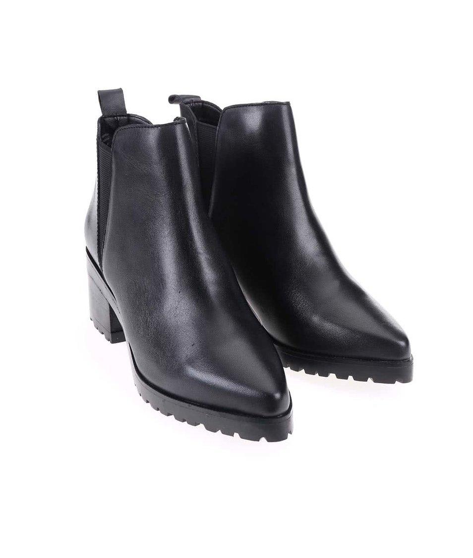 Černé kožené kotníkové boty ALDO Babbe - Vánoční HIT!  433cad88bb