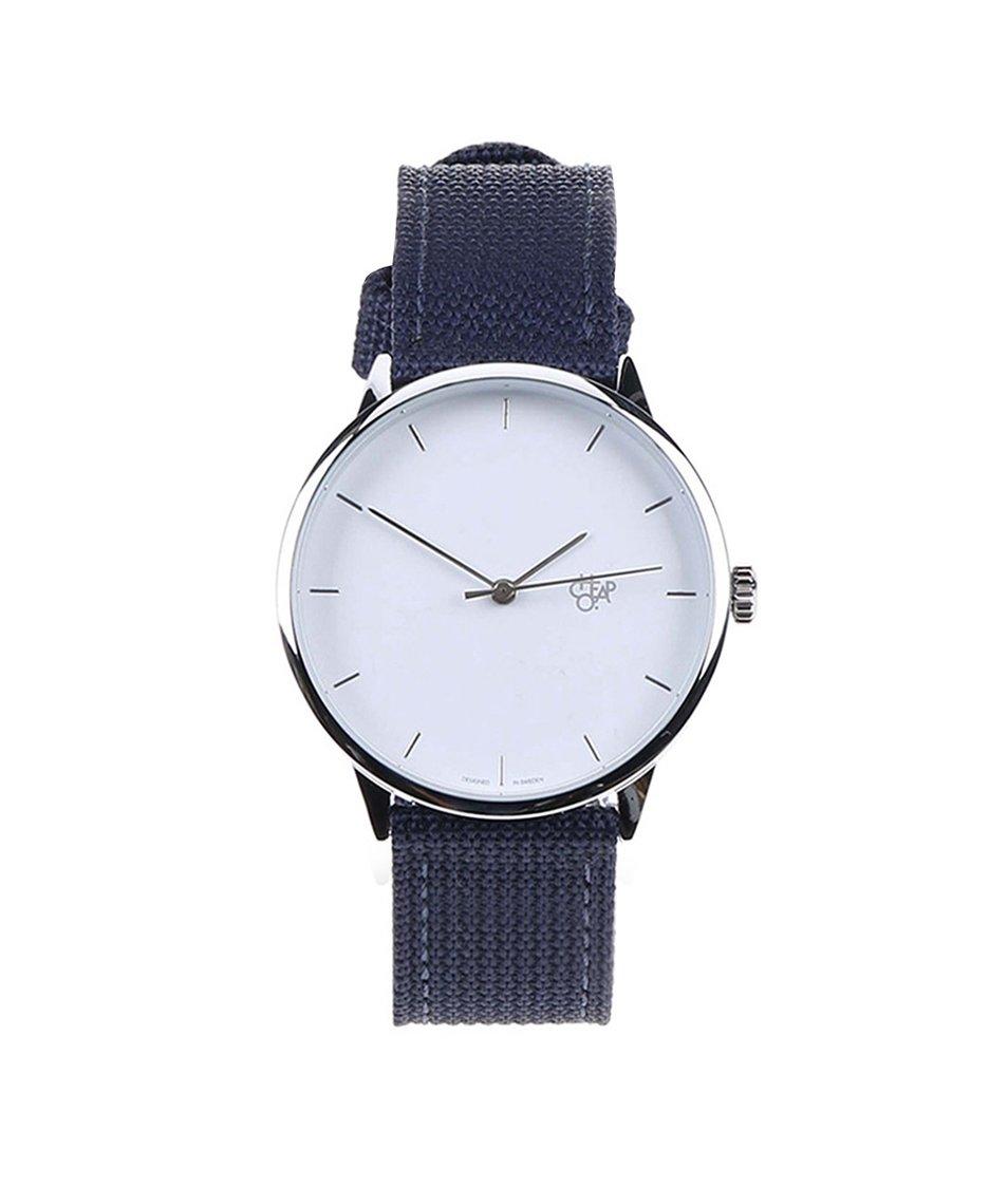 Modré unisex minimalistické hodinky Cheapo Khorshid White - SLEVA ... f3a2ad5db6