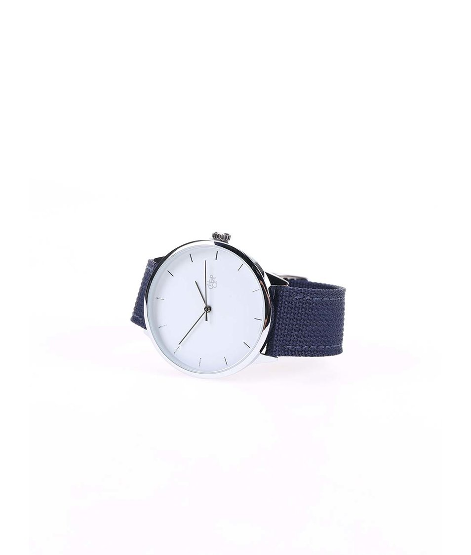 Modré unisex minimalistické hodinky Cheapo Khorshid White Modré unisex  minimalistické hodinky Cheapo Khorshid White ... 7fc38b7b1e