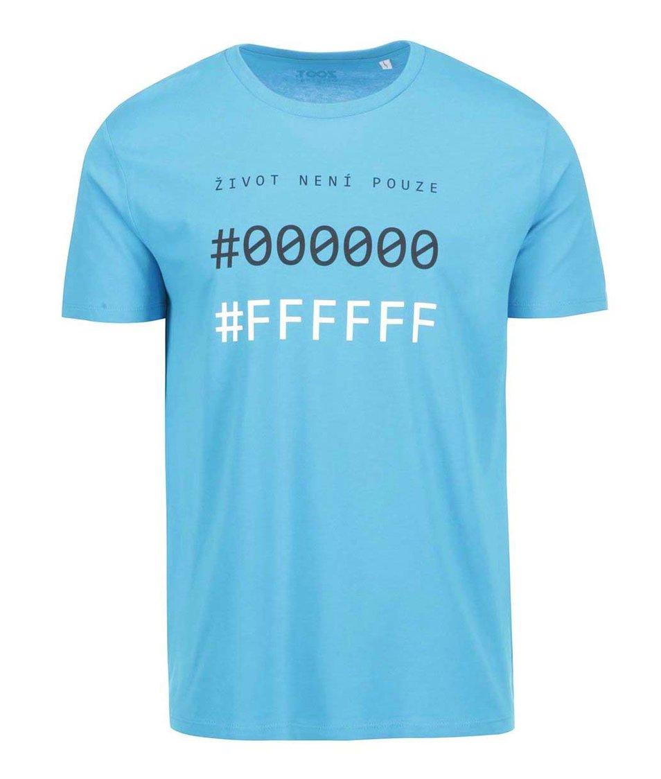 Modré pánské triko ZOOT Originál Černá a bílá