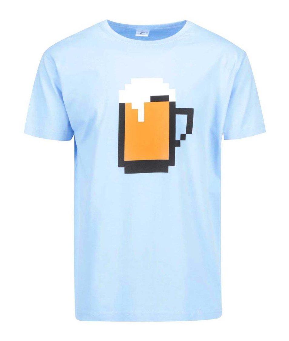 Světle modré pánské triko ZOOT Originál Pixel pivo