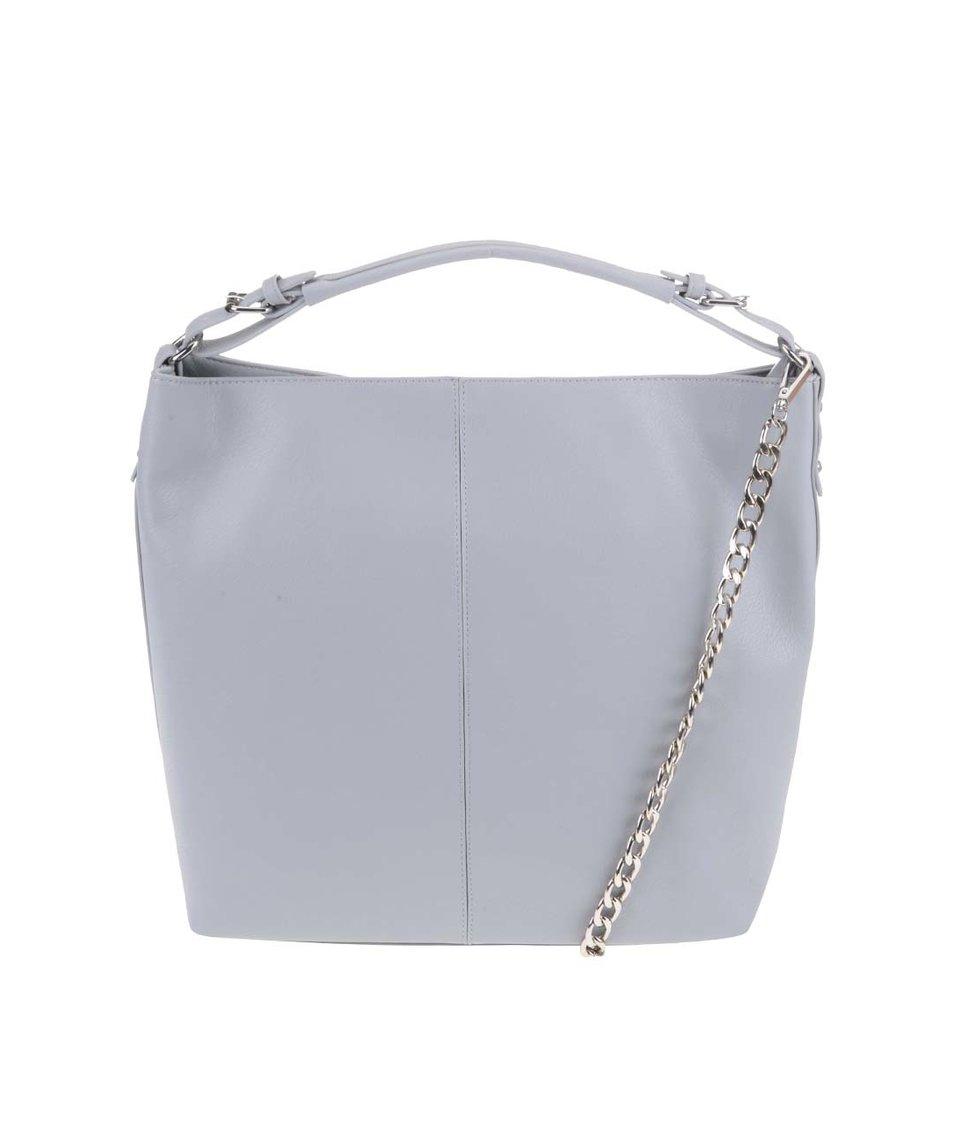 Modrošedá velká kabelka Vero Moda Linette