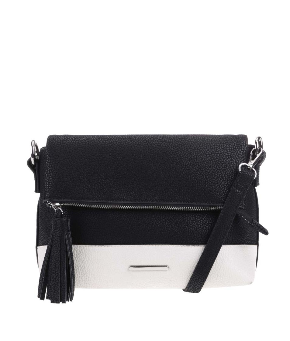 Bílo-černá malá kabelka Vero Moda Karoline