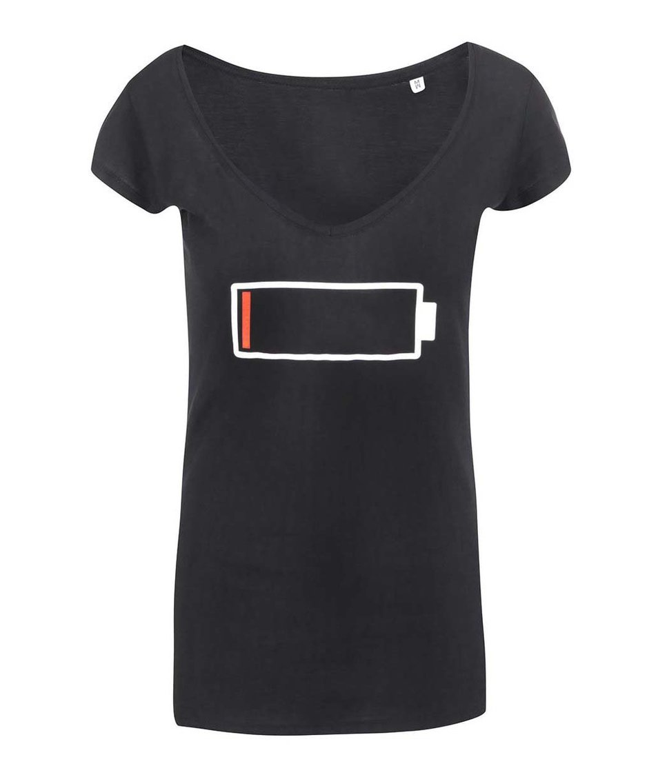Černé dámské tričko ZOOT Originál Baterie