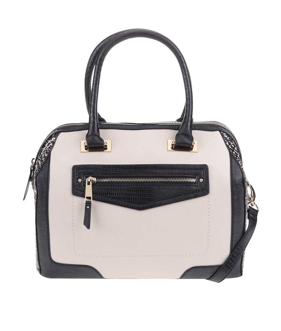 Černo-krémová kabelka s doplňky ve zlaté barvě ALDO Gelbach