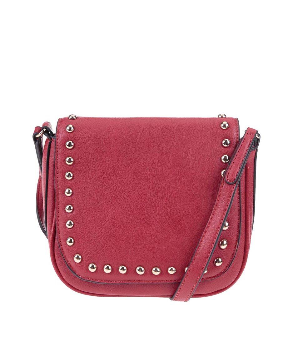 Červená malá kabelka se cvočky ALDO Load