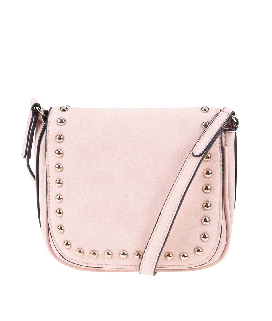 Růžová malá kabelka se cvočky ALDO Load